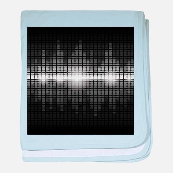 Sound Wave baby blanket