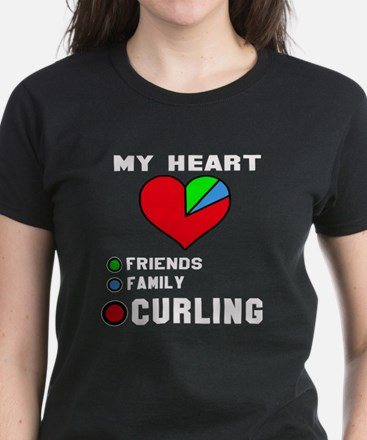 My Heart Friends, Family and Women's Dark T-Shirt