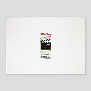 Action Comedy AnimationClassicHorror 5'x7'Area Rug