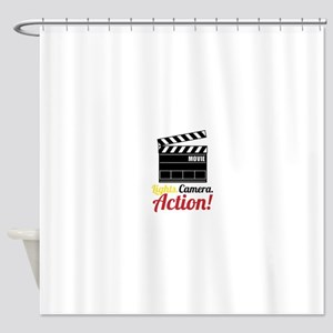 Lights Camera.Action! Shower Curtain