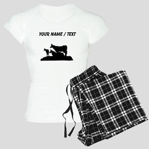 Custom Bovine Family Silhouette Pajamas