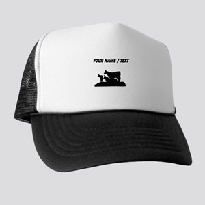 Custom Bovine Family Silhouette Trucker Hat