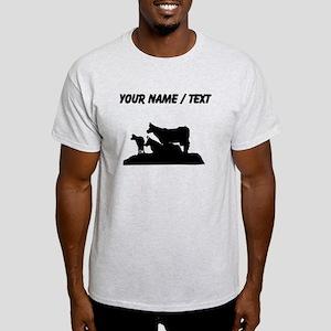 Custom Bovine Family Silhouette T-Shirt