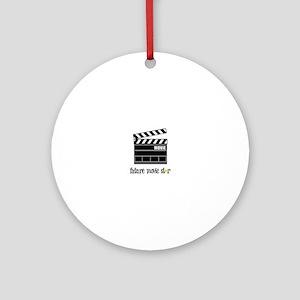 Future Movie Star Ornament (Round)