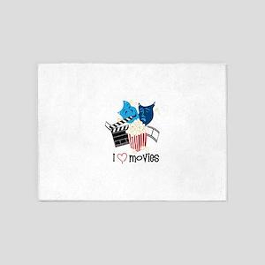 I Love Movies 5'x7'Area Rug