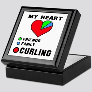 My Heart Friends, Family and Curling Keepsake Box
