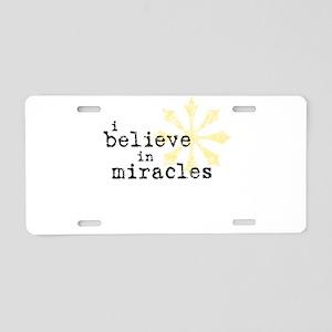 believemiracles-10x10 Aluminum License Plate