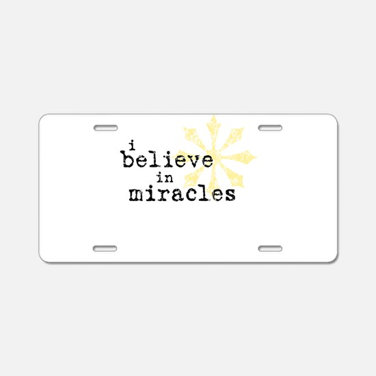 believemiracles-10x10.png Aluminum License Plate