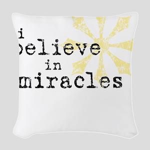 believemiracles-10x10 Woven Throw Pillow