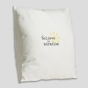 believemiracles-10x10 Burlap Throw Pillow
