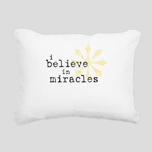 believemiracles-10x10 Rectangular Canvas Pillo