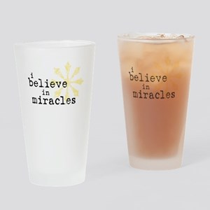 believemiracles-10x10 Drinking Glass