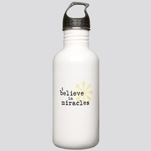 believemiracles-10x10 Water Bottle