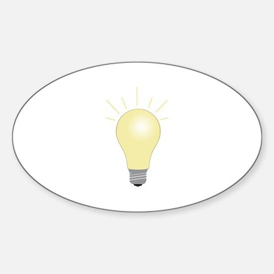 Light Bulb Decal