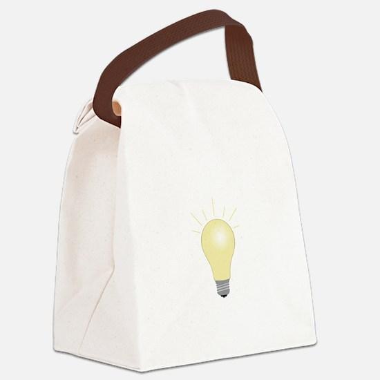 Light Bulb Canvas Lunch Bag