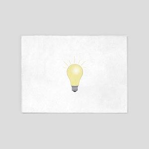 Light Bulb 5'x7'Area Rug