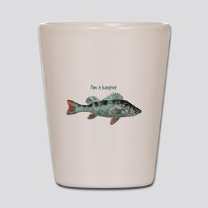 Im a Keeper Fun Quote with Fish Shot Glass