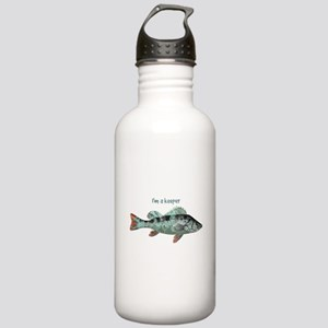 Im a Keeper Fun Quote with Fish Water Bottle