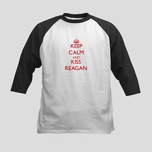 Keep Calm and Kiss Reagan Baseball Jersey