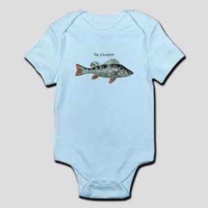Im a Keeper Fun Quote with Fish Body Suit