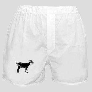 goat silhouette boxer shorts cafepress