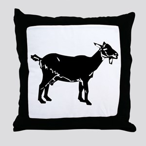 Goat Silhouette Throw Pillow