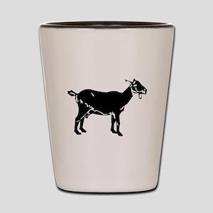 Goat Silhouette Shot Glass