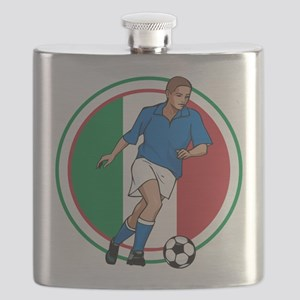 Go Italy Italia Soccer Football Flask