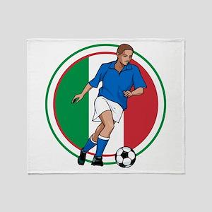 Go Italy Italia Soccer Football Throw Blanket