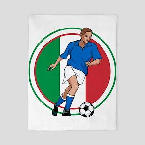 Go Italy Italia Soccer Football Twin Duvet