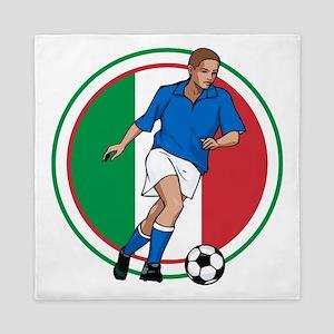 Go Italy Italia Soccer Football Queen Duvet
