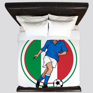 Go Italy Italia Soccer Football King Duvet