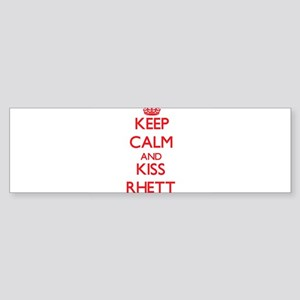 Keep Calm and Kiss Rhett Bumper Sticker
