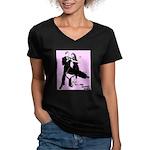 Women's V-Neck Dark Dance T-Shirt