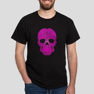 Pink Swirling Sugar Skull T-Shirt