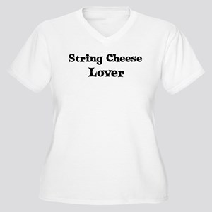 String Cheese lover Women's Plus Size V-Neck T-Shi