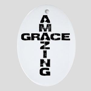 Amazing Grace Ornament (Oval)