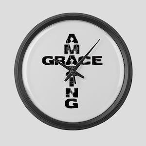 Amazing Grace Large Wall Clock
