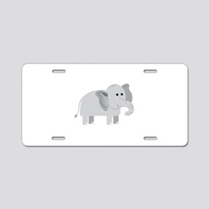 Elephant Aluminum License Plate
