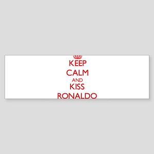Keep Calm and Kiss Ronaldo Bumper Sticker
