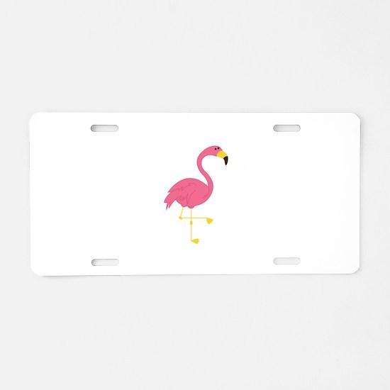 Flamingo Aluminum License Plate