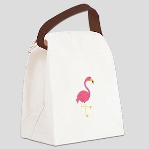 Flamingo Canvas Lunch Bag