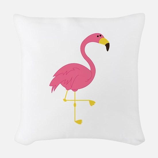 Flamingo Woven Throw Pillow