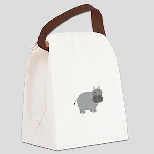 Hippopotamus Canvas Lunch Bag