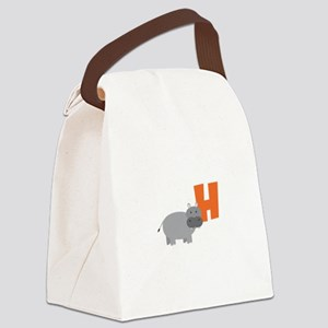 H Canvas Lunch Bag