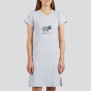 Peace, Love & Hippos! Women's Nightshirt
