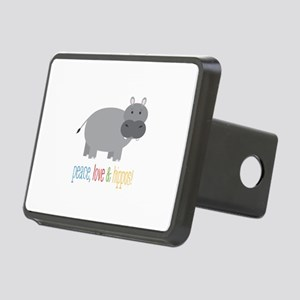 Peace, Love & Hippos! Hitch Cover
