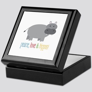 Peace, Love & Hippos! Keepsake Box