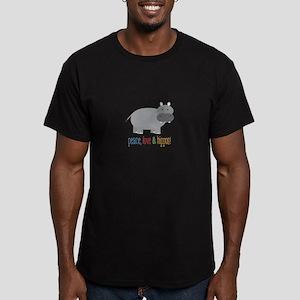 Peace, Love & Hippos! T-Shirt