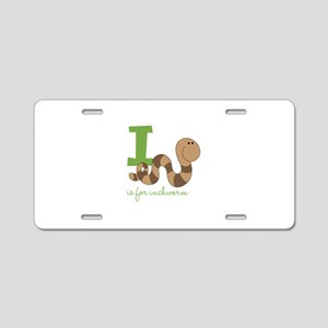 I Is For Inchworm Aluminum License Plate